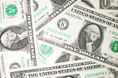 A lot of banknotes one US dollar Royalty Free Stock Photography