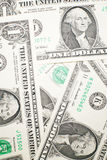 A lot of banknotes one US dollar Stock Image