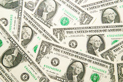 A lot of banknotes one US dollar Stock Photo