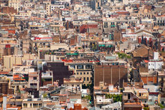 A lot of Barcelona roofs. Aerial view Stock Photography