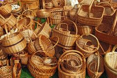 A lot of baskets Royalty Free Stock Photo