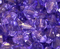 A lot of beads, purple Stock Photos