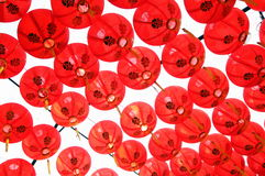 A lot of beautiful red chinese lanterns. Stock Images