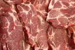 Lot of beef steak as backround royalty free stock images