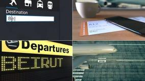 Lot Bejrut Podróżować Liban montażu konceptualna animacja zbiory