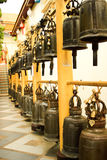 A lot of big bell in Doisuthep temple, Thailand. Travaler offen knock Royalty Free Stock Image