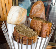 A lot of big bread. A lot of big bread in basket Stock Image