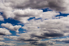 It is a lot of big cumulonimbus clouds Stock Photography