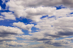 It is a lot of big transparent clouds Stock Photos