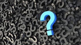 Black and blue question marks royalty free illustration