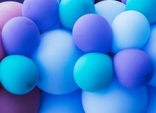 A lot of blue balloons, pride festival. A lot of blue balloons, pride  festival stock image