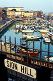 Full dock in Ramsgate port Royalty Free Stock Photo