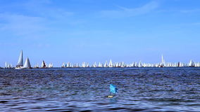 A lot of boats in the sea stock video footage