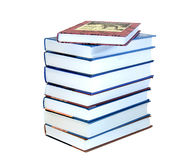 Lot of books. Close up Stock Photography