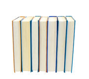 Lot of books isolated. Lot of booksc lose up, isolated over white Royalty Free Stock Photo