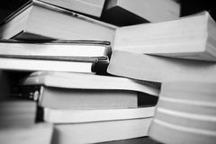 A lot of books are on the table Royalty Free Stock Photography