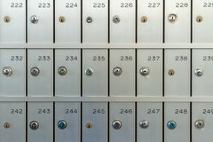 Safe deposit boxes for rent stock photography