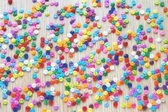 A lot of bright multicolored small buttons royalty free stock image