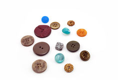 A lot of buttons on a white background Royalty Free Stock Image