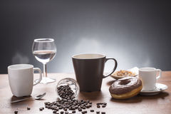 Lot of caffee lot of coffee variations on the plate Stock Images