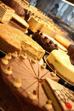 A lot of cakes. In a patisserie Royalty Free Stock Image