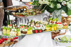 Lot of canape Stock Photo