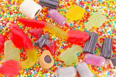 A lot of candies Stock Photos