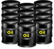 It is a lot of capacities with oil Royalty Free Stock Images