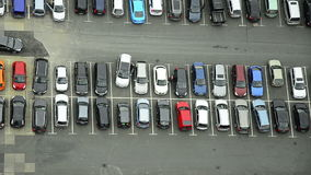 A lot of cars parking in a city stock footage