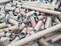 A lot of carton tubes for recycling Stock Image