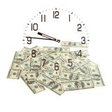 Lot of cash dollars as background Stock Images