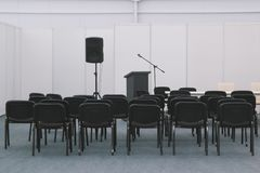 A lot of chairs in meeting or conferences room. Wide angle Stock Images
