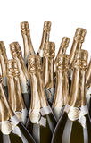 Lot of champagne bottles Stock Photography