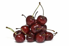 A lot of  cherries. Royalty Free Stock Photo