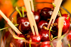 A lot of cherries Stock Photos