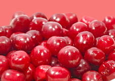 A lot of cherry berries taken closeup.Food background. Stock Photos