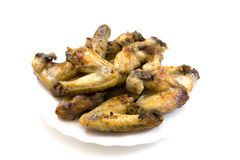 A lot of chicken wings Stock Photo