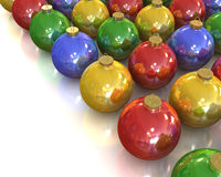 A lot of christmas glossy and shiny balls Royalty Free Stock Images