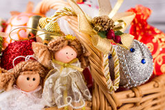 Lot of Christmas toys. Stock Photography
