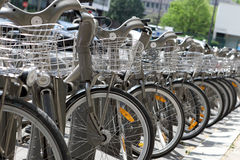 City bikes for rent Royalty Free Stock Photo