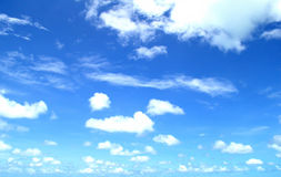 A lot of cloud in the super blue sky. A lot of cloud in the super blue sky in the afternoon Royalty Free Stock Photos
