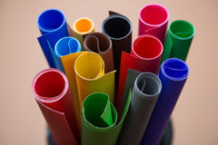 Lot of color paper for crafts idea Royalty Free Stock Images