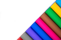 Lot of color paper for crafts idea Royalty Free Stock Photography