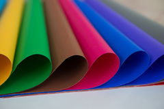 Lot of color paper for crafts idea Stock Photos