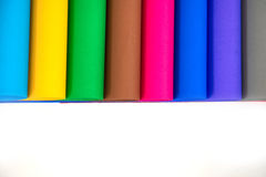 Lot of color paper for crafts idea Stock Photo