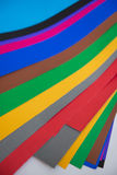 Lot of color paper for crafts idea Stock Images