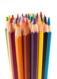 A lot of color pencils Stock Photography