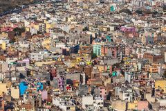 A lot of colored buildings, top view. Stock Image