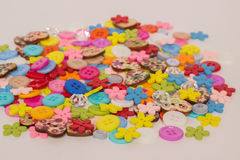 A lot of colored buttons. Many beautiful colored buttons for Hand Made Royalty Free Stock Photography