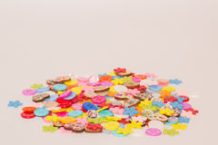 A lot of colored buttons. Many beautiful colored buttons for Hand Made Royalty Free Stock Photo